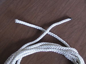 Coiling - Coil the rope until its ends are reached