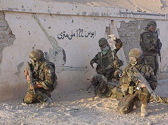 Italian Armed Forces - Alpini of the 4th Alpini Paratroopers Regiment in Afghanistan in 2007.