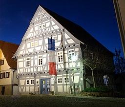 Altes rathaus stetten franzoesische flagge