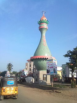 Coconut symbol landmark in Amalapauram