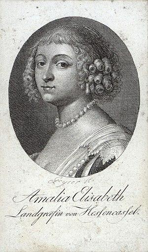 Amalie Elisabeth von Hanau-Münzenberg, Portrait als junge Frau