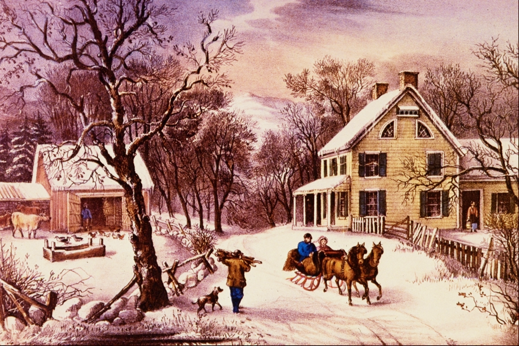 American Homestead Winter Currier and Ives