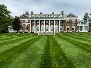 Stonehill College - The former Ames estate was the first building of the Stonehill campus