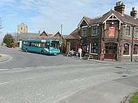 An Arriva bus waiting to depart for Chatham- Geograph 3988027.jpg