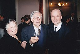 Andrej Hoteev after the recital in Moscow Conservatory - Great Hall with .Lev Naumov and Irina Naumova 1996.jpg