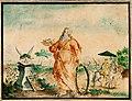 Anoniem, Emblematische compositie met voorstelling van de Dood en de Eeuwigheid - Composition emblématique avec représentation de la Mort et de l'Eternité, KBS-FRB.jpg