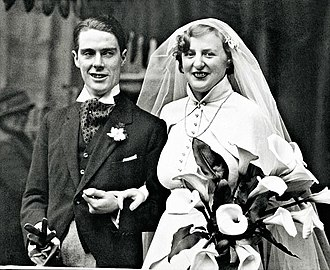 Anthony Powell - Anthony Powell with Violet on their wedding day in 1934