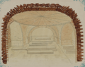 Antiquities of Samarkand. Mausoleum of the Emir Timur Kuragan (Gur-Emir). Interior of the Tomb. View of the Family Crypt of Tamerlane WDL3574.png