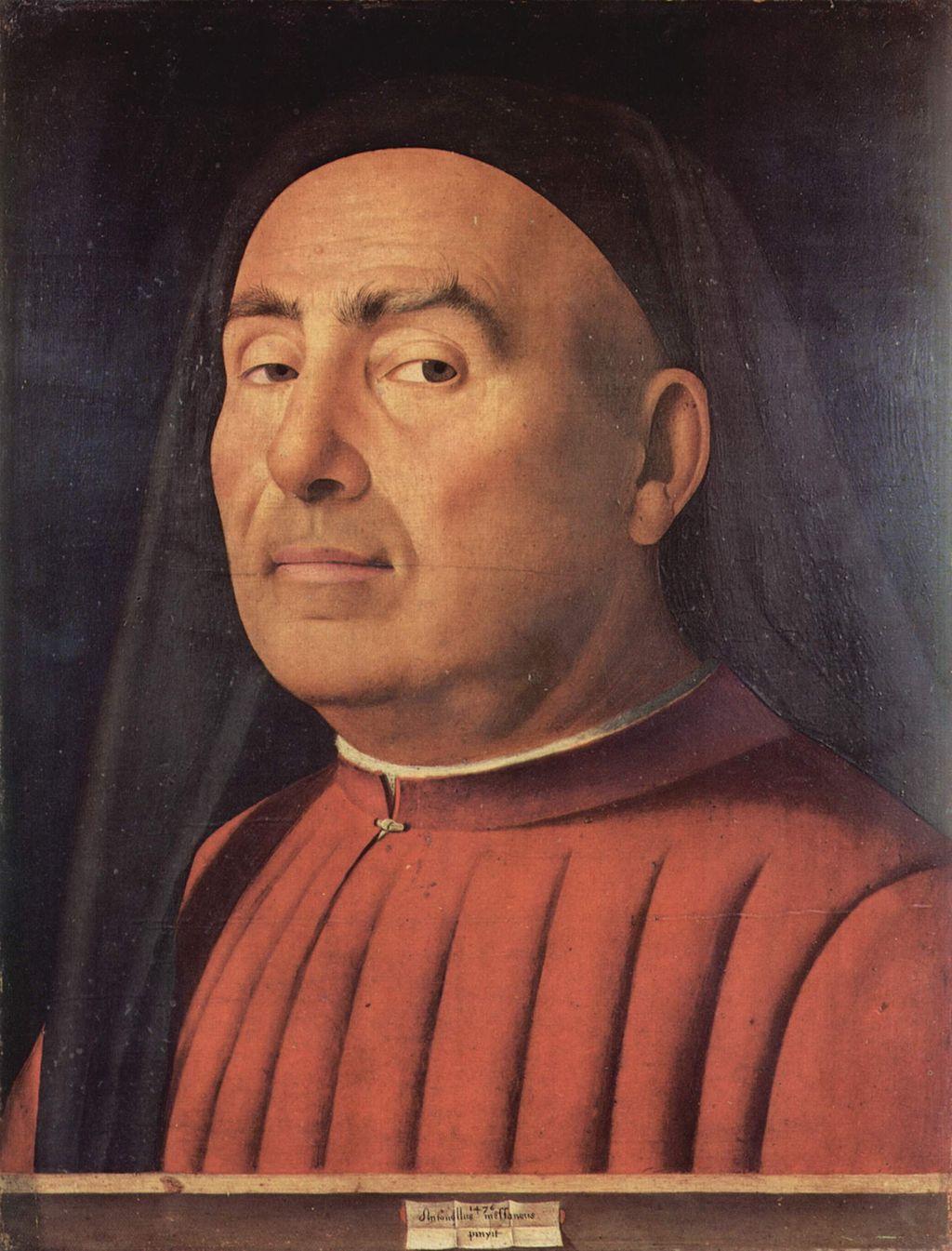 Antonello da Messina (1430–1479), Ritratto Trivulzio, 1476, olio su tavola di pioppo, 37,4×29,5 cm, Torino, Museo Civico d'Arte Antica di Torino