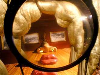 Dalí Theatre and Museum - Face of Mae West appears only from a special point of view