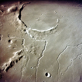 Planetary science - Photograph from Apollo 15 orbital unit of the rilles in the vicinity of the crater Aristarchus on the Moon.