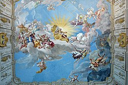 Apotheosis of Charles VI - Fresco of Paul Troger (1739) - Imperial Stair Case - Göttweig Abbey.jpg