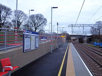 Airedale line - Apperley Bridge station opened in 2015.