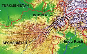 Hindu Kush - Image: Approximate Hindu Kush range with Dorah Pass
