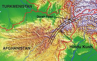 mountain range near Afghanistan and Pakistan border