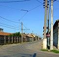 Arad, jednokolejná tramvajová trať.jpg