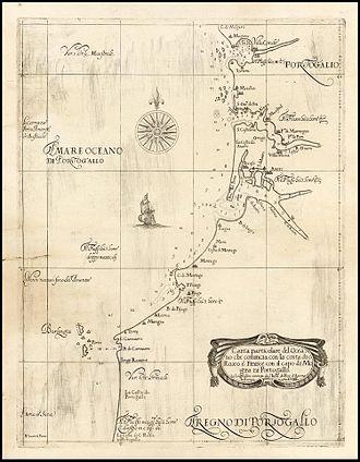 Dell'Arcano del Mare - Dell'Arcano del Mare: chart of Portugal (Florence, 1646)
