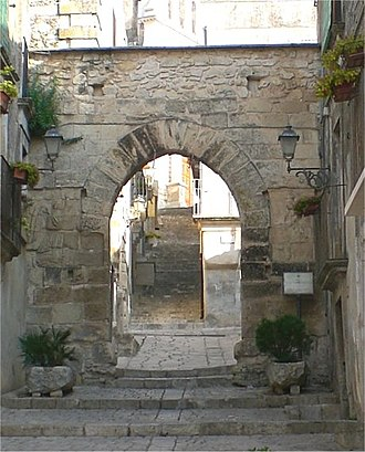 Chiaramonte Gulfi - The Northern Gate called Arco dell'Annunziata.