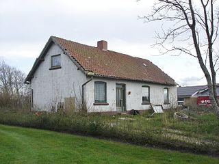 Arentsminde Village in North Jutland, Denmark