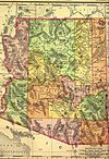 1895 map of Arizona
