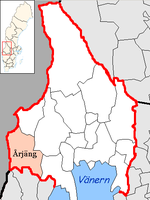 Location of Årjäng municipality