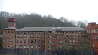 Derwent Valley Mills World Heritage Site, where water-powered cotton-spinning mills were first built in the UK