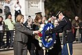 Arlington Ladies place a wreath at the Tomb of the Unknown Soldier (30889234562).jpg