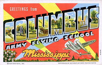 Columbus Air Force Base - World War II Columbus Field Postcard