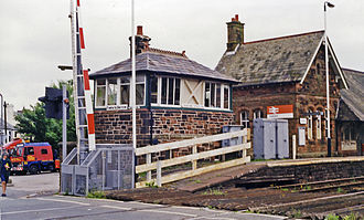 Askam and Ireleth - Askam station and level crossing