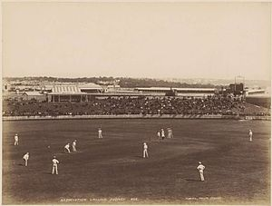 Sydney Riot of 1879 - An 1887 cricket match in progress at Sydney's Association Ground, the site of the riot
