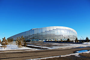 Astana Arena - View from the back side.