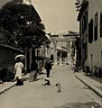 Athens promenade by the gate of Athena Archegetis 1908.jpg
