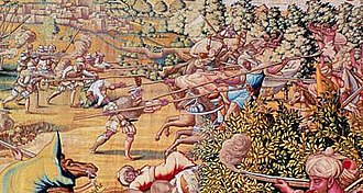 Conquest of Tunis (1535) - Image: Attack at La Goletta