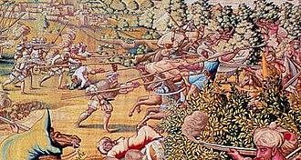 Conquest of Tunis (1535) - Image: Attack at La Goletta