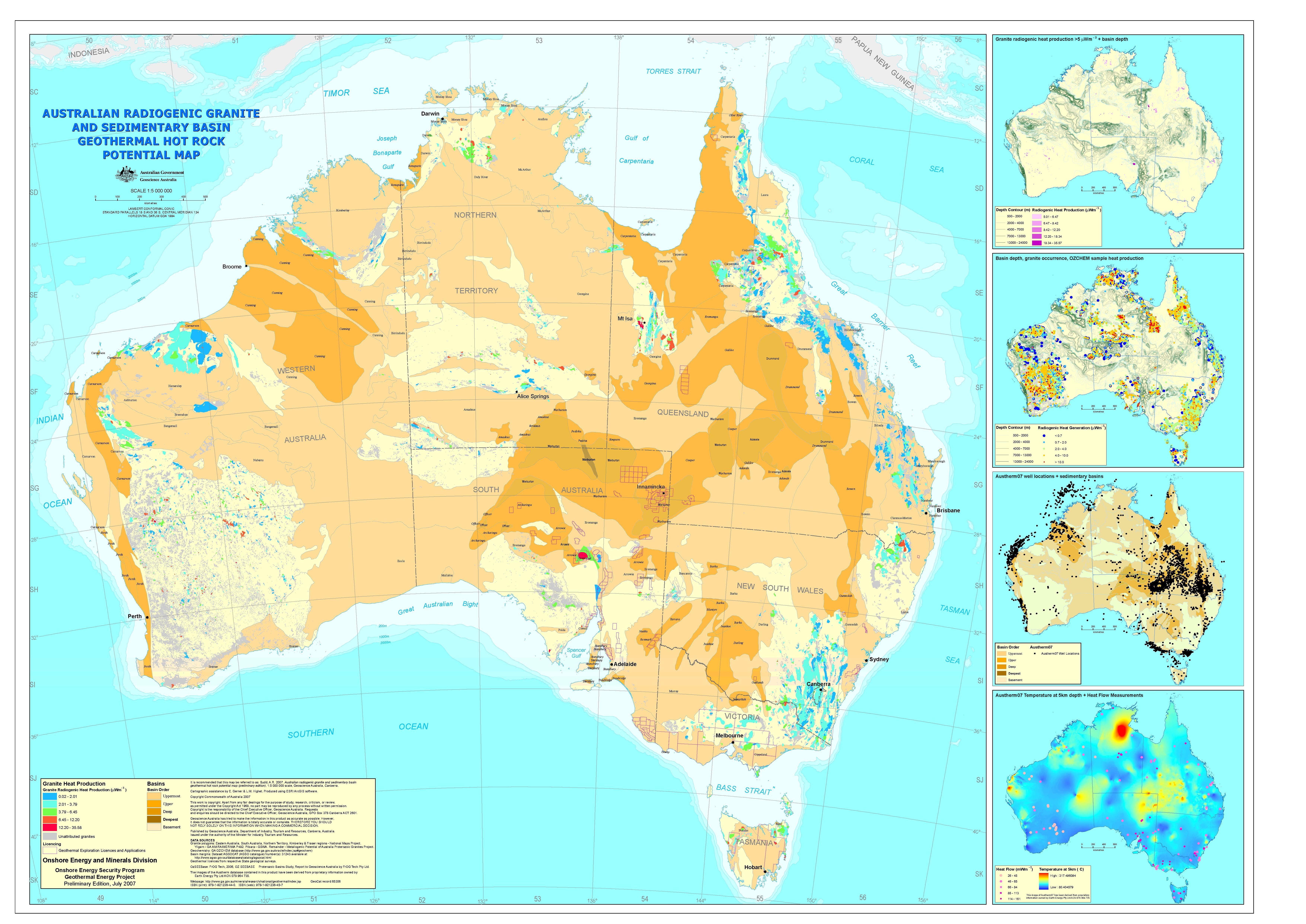 Geothermal Energy Plant Locations geothermal power in australia ...