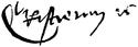 Christian al II-lea al Danemarcei's signature