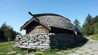 Avaldsnes - Reconstructed Viking boathouse at the Nordvegen History Centre