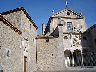 Convento de San José (Ávila) - Main facade of the Convent of Saint Joseph, in Ávila, Spain, by Francisco de Mora.