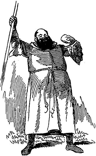 Avon Saxon - Saxon as Friar Tuck in Ivanhoe, drawn by Linley Sambourne for Punch (1891)