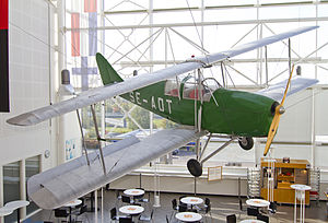 Avro Avian - Avian IV, SE-ADT preserved in good condition and displayed in a café in a shopping center at Arlanda Stad close to Stockholm – Arlanda Airport, Sweden