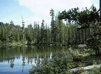 Red Buttes Wilderness - Azalea Lake in Red Buttes Wilderness