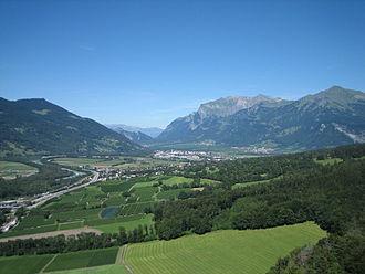 Chur Rhine Valley - The Bündner Herrschaft in the north of the Chur Rhine Valley