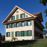 Altes Schulhaus, sogenannter Schlosshof, Alpnach Dorf (1839)
