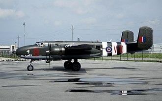 RAF West Raynham - B-25J in 98 RAF Squadron markings