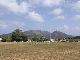 Leslie Hylton - A view of the Sabina Park stadium, across the practice ground