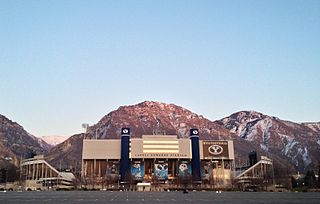 LaVell Edwards Stadium stadium at Brigham Young University in Provo, Utah, United States