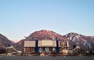 LaVell Edwards Stadium - Looking east in March 2015