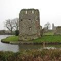 Baconsthorpe Castle - NE tower and lake - geograph.org.uk - 1121170.jpg