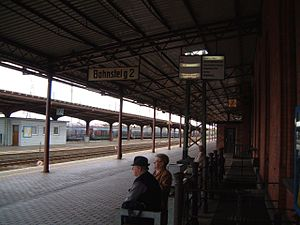 Guben station - Main platform
