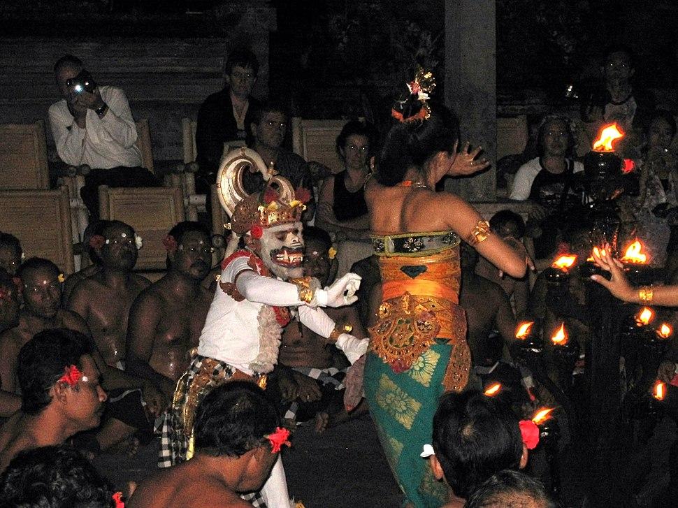 Balinese Ramayan-Sita and Hanuman